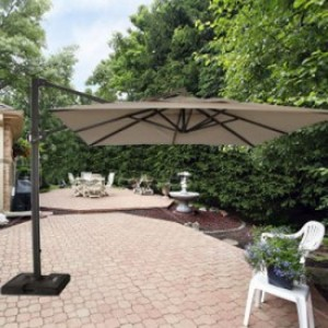 Good Nice 10 Foot Cantilever Offset Patio Umbrella