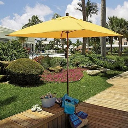 6 Foot Abaco Square Fiberglass Market Umbrella