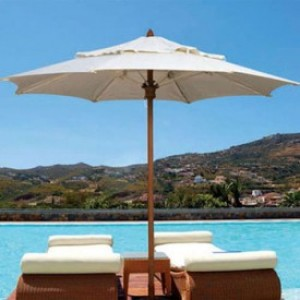 9 Foot Harbor Beach Fiberglass Patio Umbrella