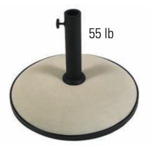 "19"" Round Concrete Umbrella Base"