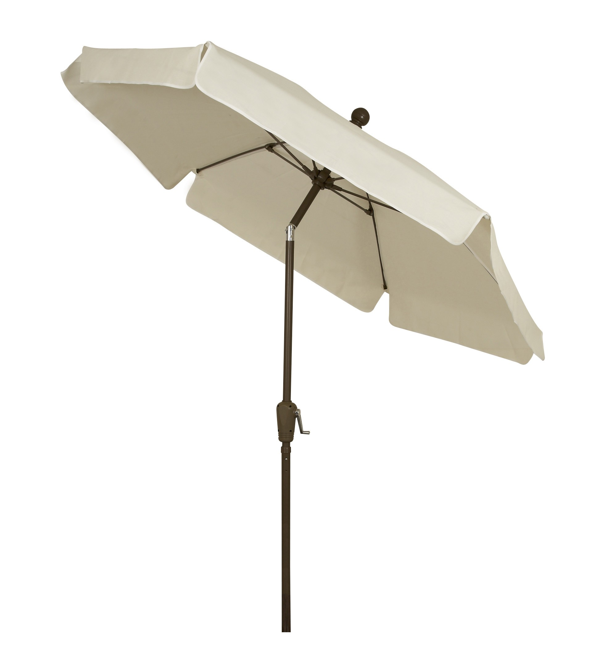 7.5 Foot Fiberglass Garden Umbrella w/ Natural Fabric & Tilt