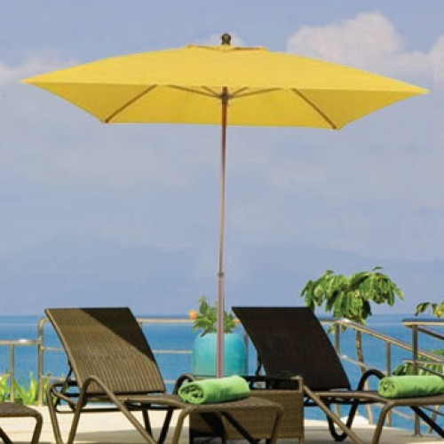 6 Foot Westport Square Fiberglass Patio Umbrella