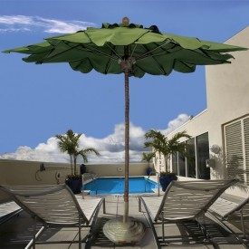 11 Foot Coconut Palm Fiberglass Patio Umbrella
