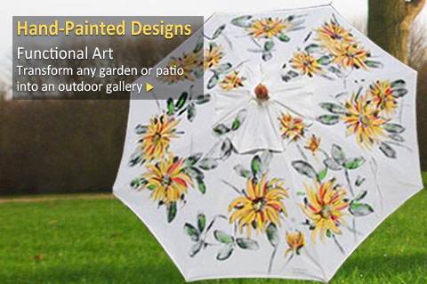 Hand Painted Market Umbrellas
