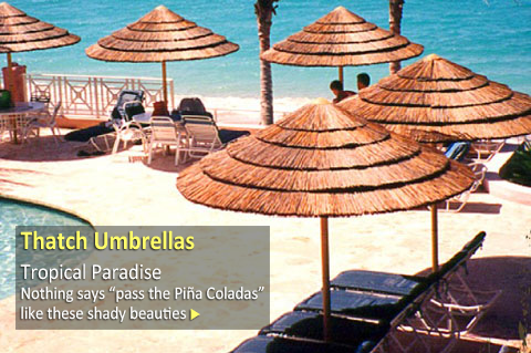 Thatch Patio Umbrellas
